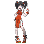 Ling Xiaoyu as a Pokemon Trainer