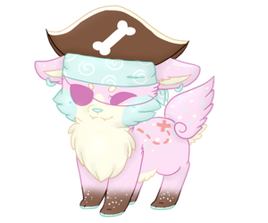 Connie the Pastel Pirate Birthday Cake Sushi Dog by Emeraldpaws