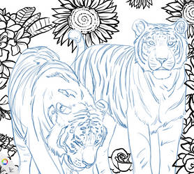 .Coloring Page Teaser. by CheshireSmile