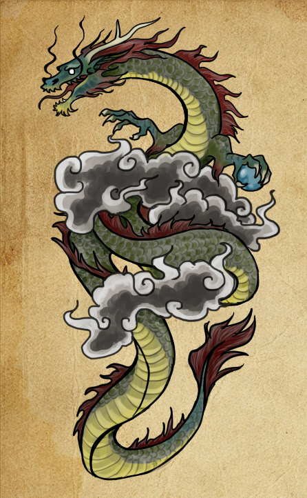 dragon tattoo design by paintaloosa on deviantart. Black Bedroom Furniture Sets. Home Design Ideas