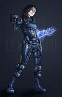Commission - Miranda Lawson by CaptainMoony