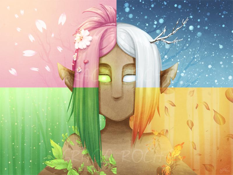 Kelp's Seasons - Patreon Milestone Wallpaper by CaptainMoony