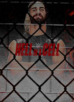 Hell In A Cell 2015 (Custom) Poster by MardeusGraphics