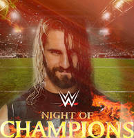 Night Of Champions Fan Made Poster by MardeusGraphics