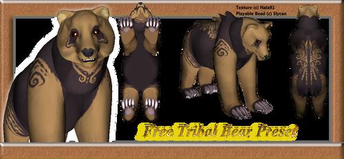 Free Tribal Bear Preset by Nala91