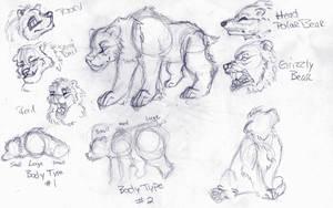 Vintage Bear Sketch'