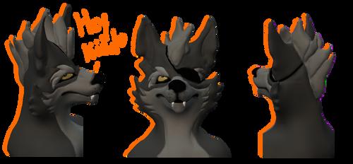 Starfox Animated Series Wolf Head Model