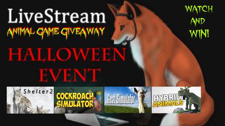 Animal Game GiveAway this Halloween Weekend
