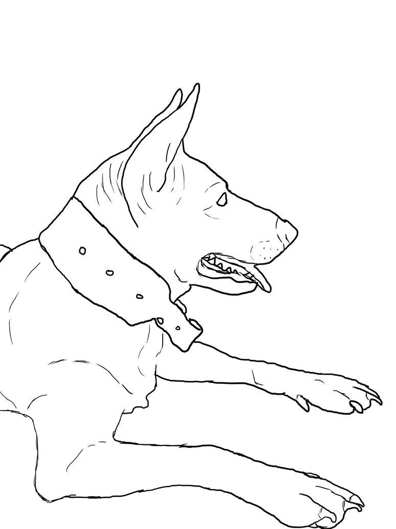 Line Art Dog : Meg dog lineart by iluvbiscuit on deviantart