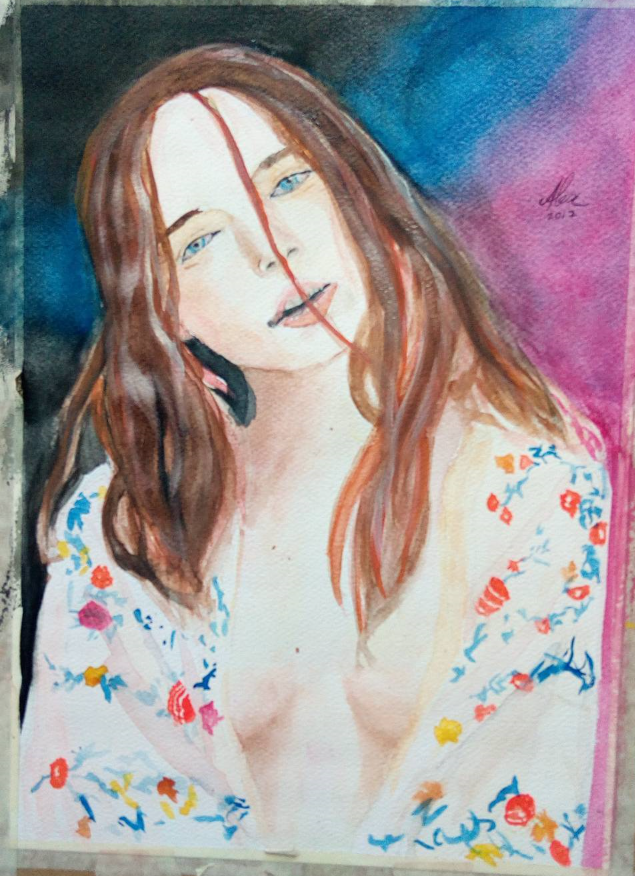Girl in watercolour by Alexxa16