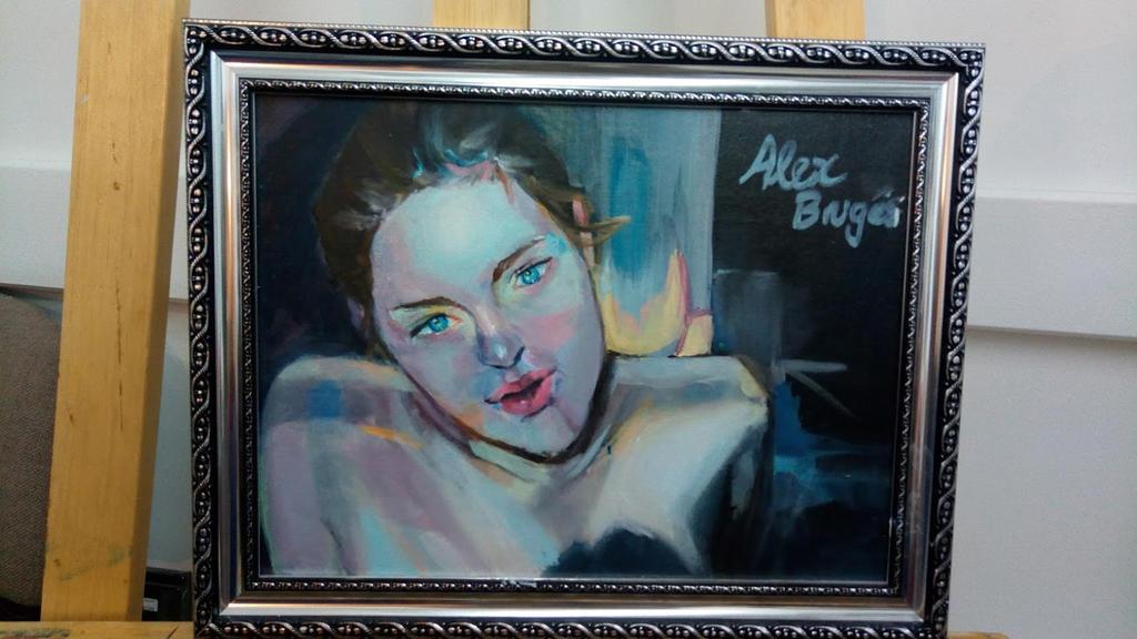 Girl In Blue based on Yanncheng art illustration by Alexxa16