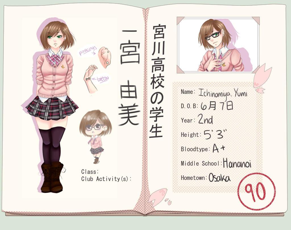 MH: Ichinomiya, Yumi by yulia-hime