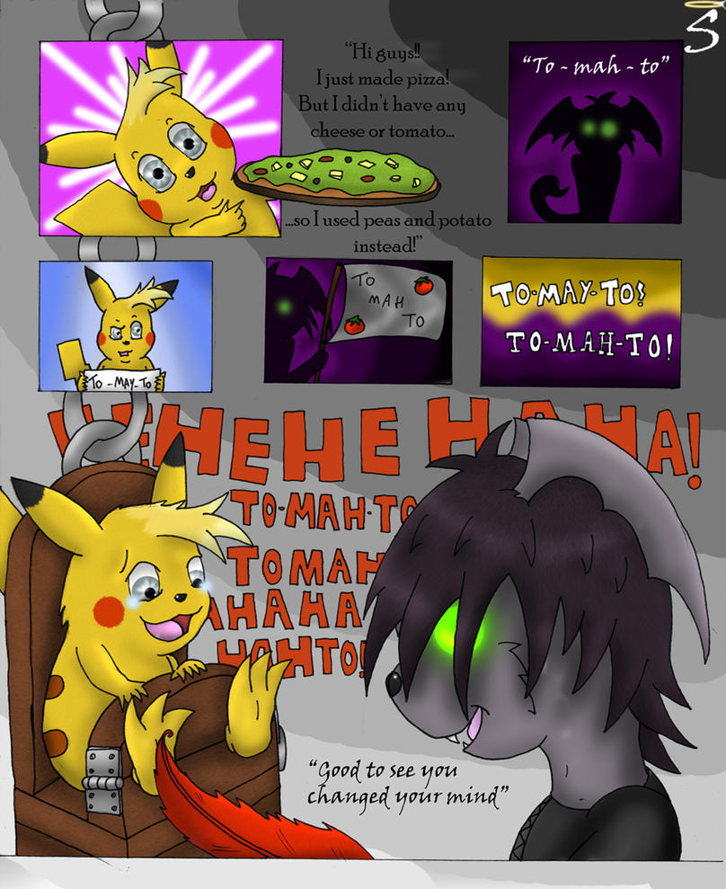 Pikachu tickle comic. by Seraphon