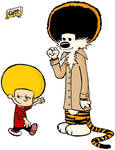 Afro Calvin and Hobbes