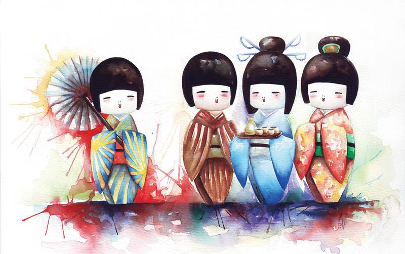 Kokeshi Meeting by AVindas