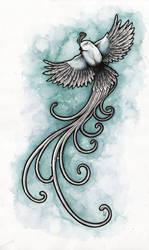 The silver snowbird (edit) by AVindas