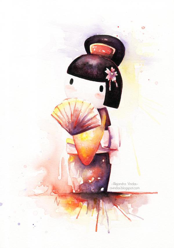 Flirting kokeshi by AVindas