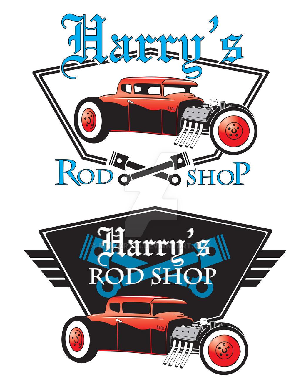 Logos for a Hot Rod Shop by Maikart24 on DeviantArt
