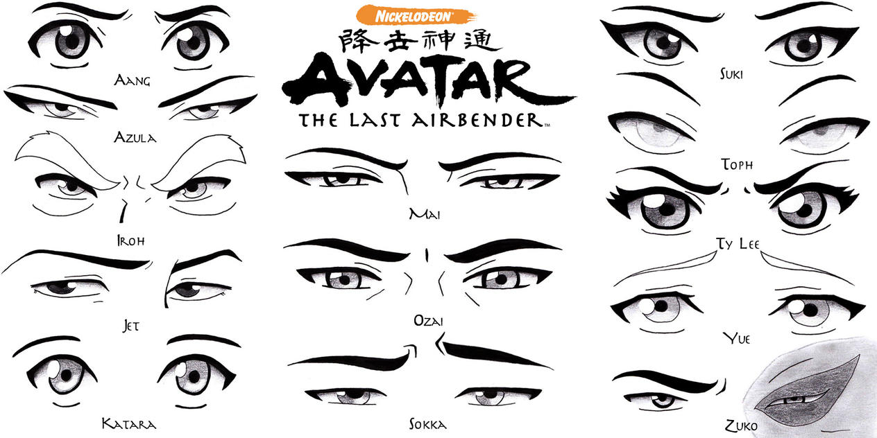 Eye Set Avatar the Last Airbender by Sapphire56 on