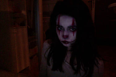 Evil/dead clown make-up try out by MicheSpade