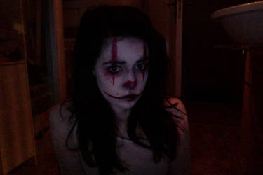 Evil/dead clown make-up try out #2 by MicheSpade
