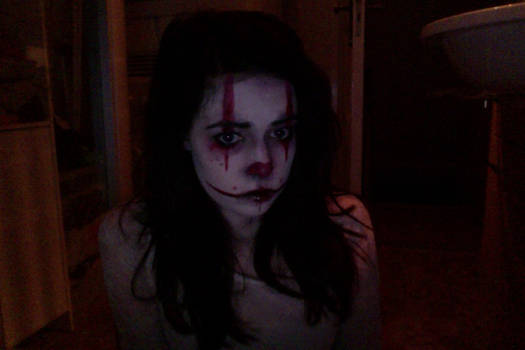 Evil/dead clown make-up try out #2