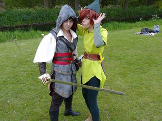 Peter Pan and the assassin! by MicheSpade