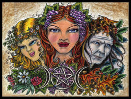 Maid, Mother and Crone by lilmoongodess