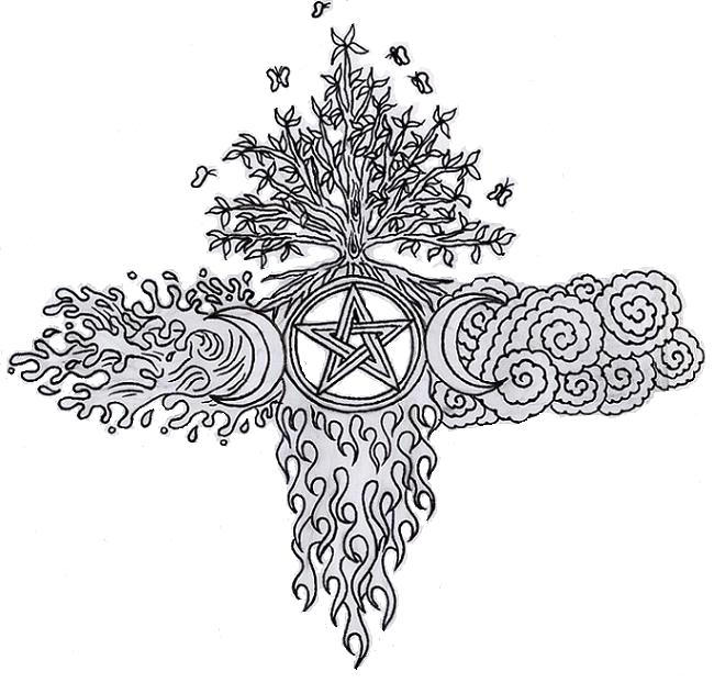 Wiccan Elemental EA Cross by lilmoongodess on DeviantArt