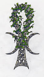 Wiccan Ankh Colored by lilmoongodess