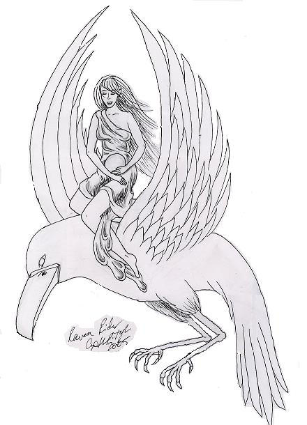 Line Drawing Raven : Raven rider line drawing by lilmoongodess on deviantart