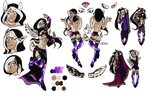 MYO Dainty Commission - Galaxy Belly Dancer