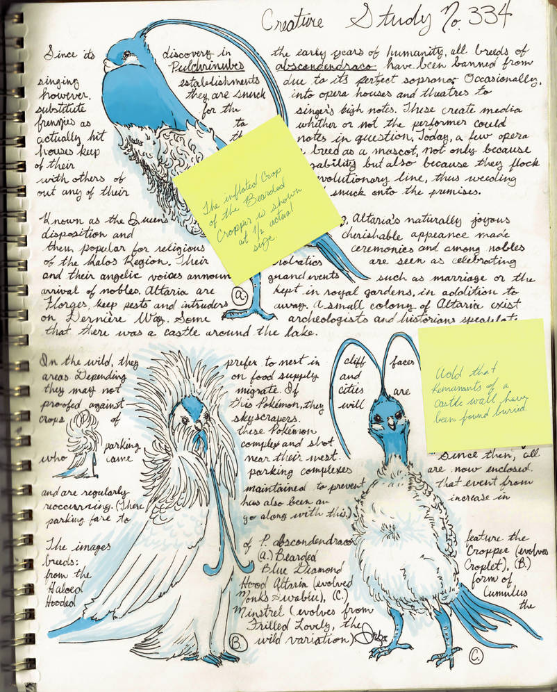 Creature Study No. 334, Altaria