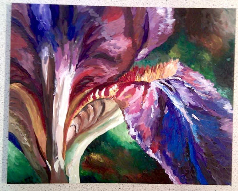 Can you use a canvas painting as part of gcse art coursework?