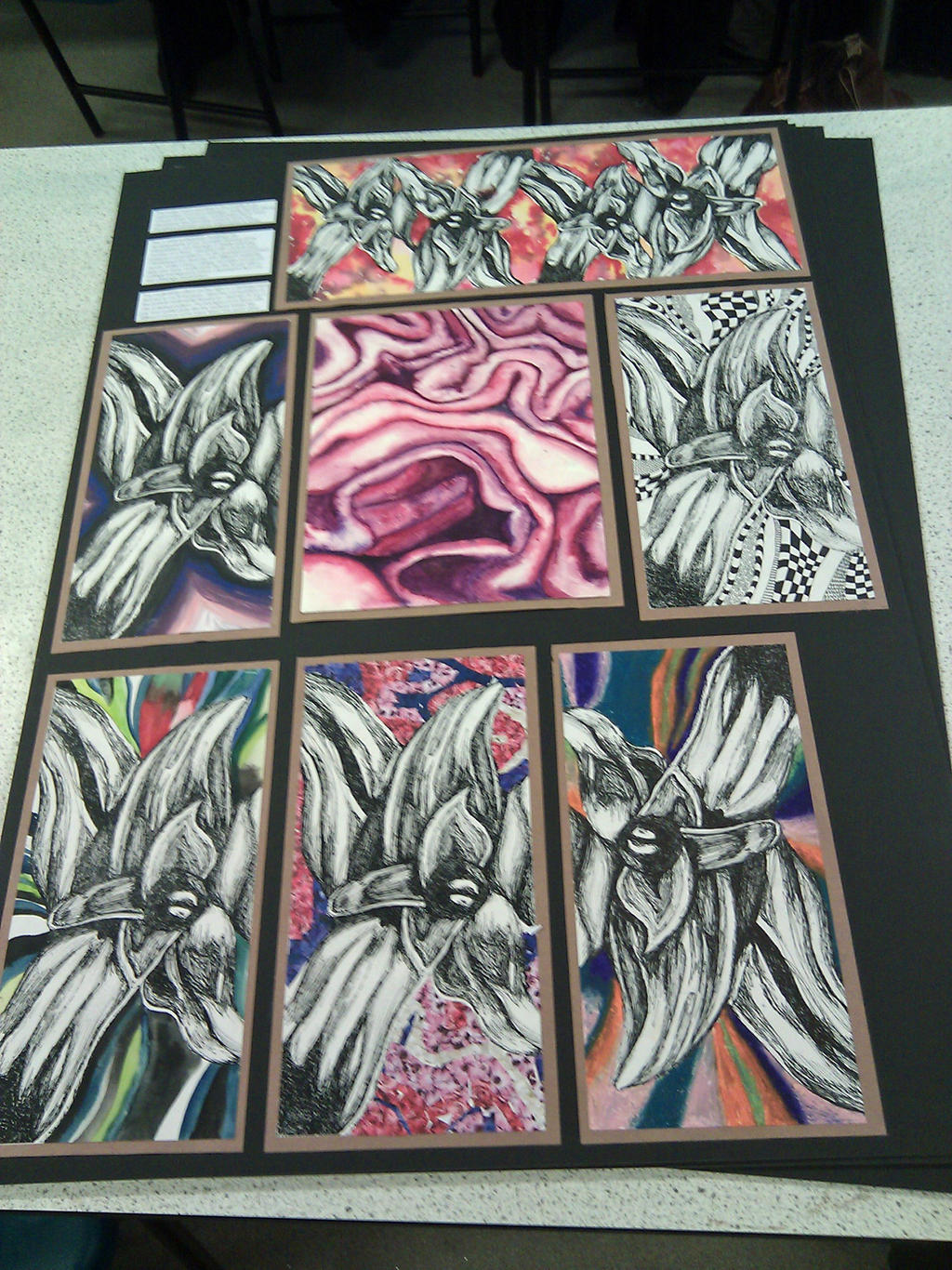 GCSE Art Board 4 by ElleMcC on DeviantArt