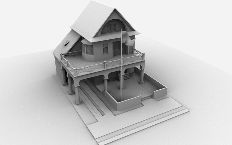 House 3d Model In Maya House Best Design