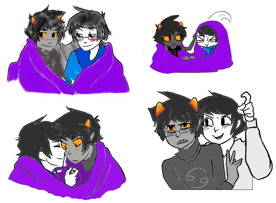 Karkat John Livejournal John And Karkat Blankets by