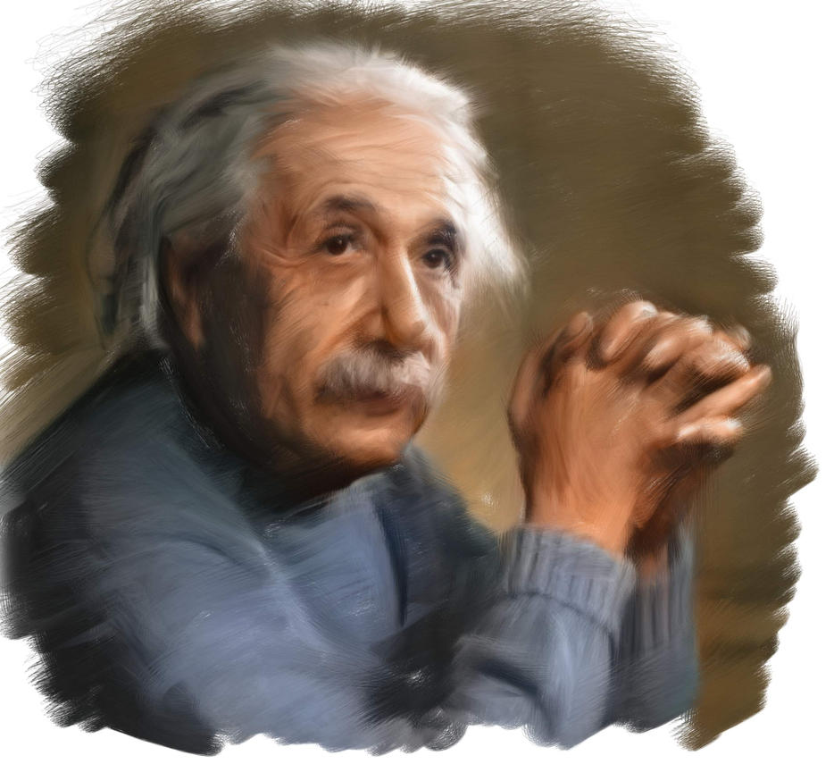 Painting of Einstein by RoberLeSage