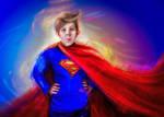 portrait boy superman