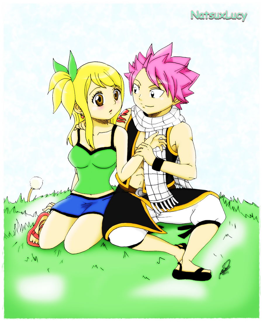 Natsu and Lucy by WolfMoon17 on DeviantArt
