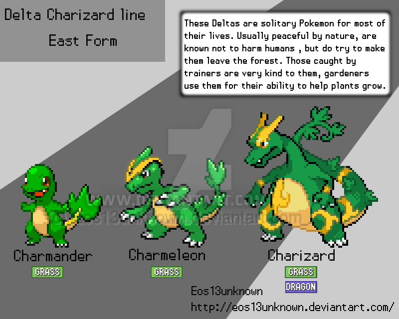 Delta Charizard Line By Eos13unknown On Deviantart