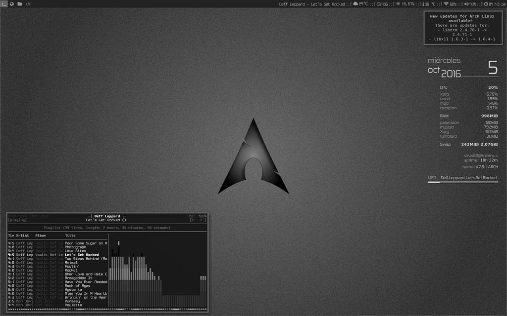 My SetUp i3wm + Archlinux by elhackerlibre