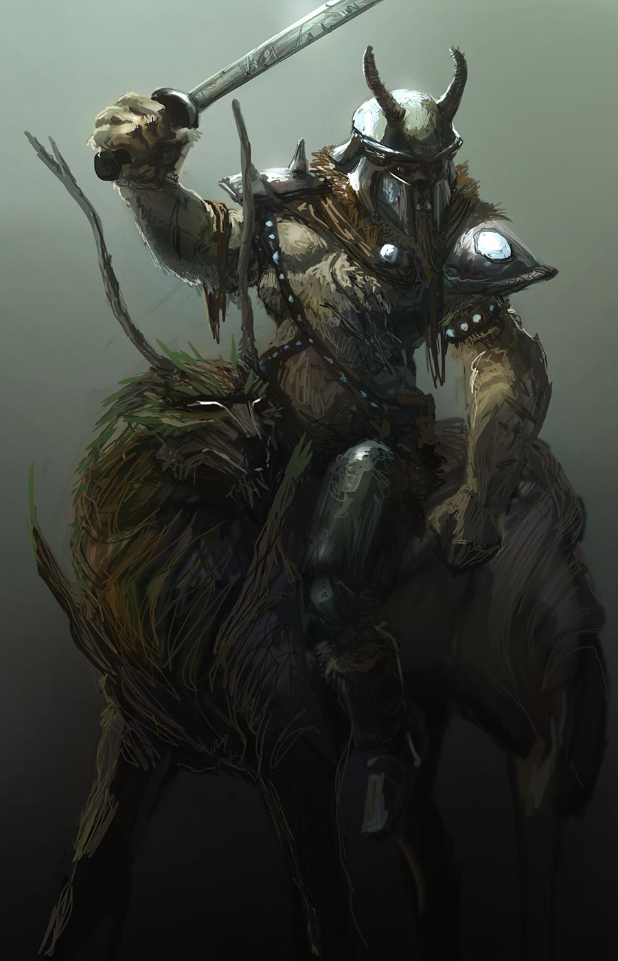Diamond Dog on a Timberwolf by TDSpiral