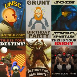 Halo/Destiny Propaganda Posters by TDSpiral