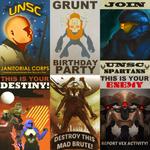 Halo/Destiny Propaganda Posters