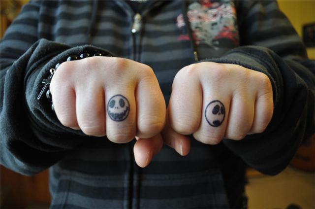 Jack Skellington Finger Tattoo by AngelicFruitcake267