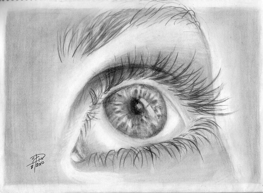 up looking eye by TheT...Eyes Looking Up Drawing