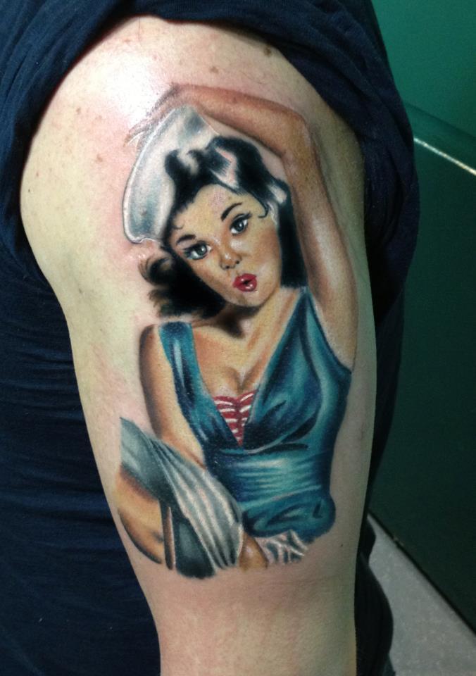 Pin-up Tattoo by DeerBeth on DeviantArt