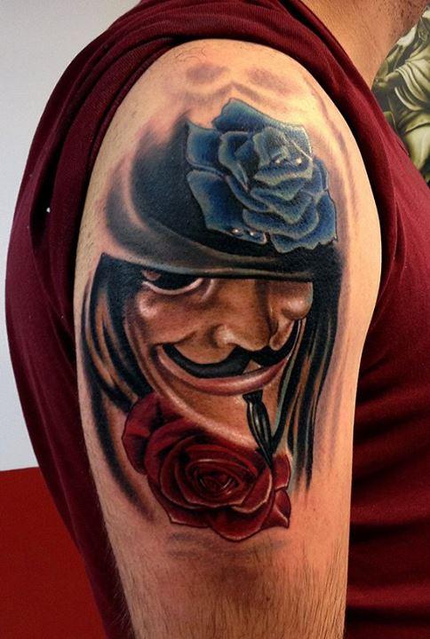 V For Vendetta Tattoo Ideas for Vendetta Tattoo by...