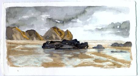 Travel sketchbook: New Zealand by crisurdiales